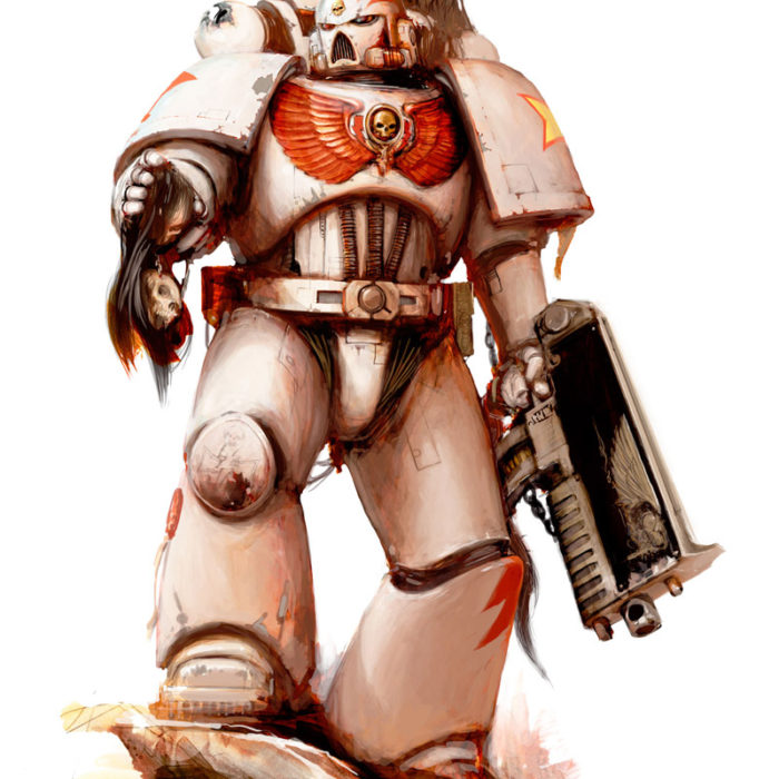 Space Marine of the White Scars Chapter, a brutal Chapter known for their love of speed and strike and fade tactics.