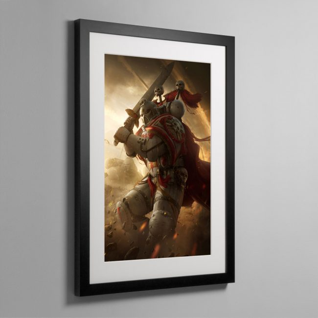 A WHITE SCARS CAPTAIN – Framed Print