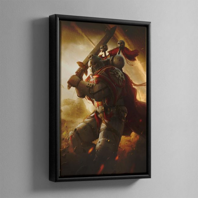 A WHITE SCARS CAPTAIN – Framed Canvas
