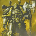 Chaos Space Marine from the Iron Warriors Legion.