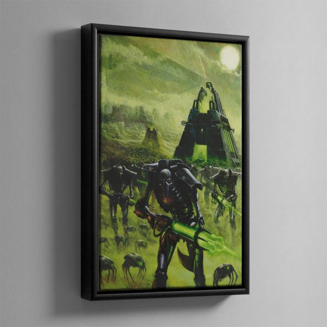 IMPLACABLE ADVANCE – Framed Canvas