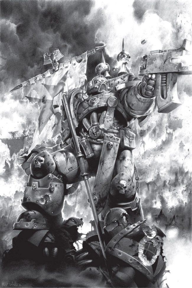A Black Templars Space Marine.