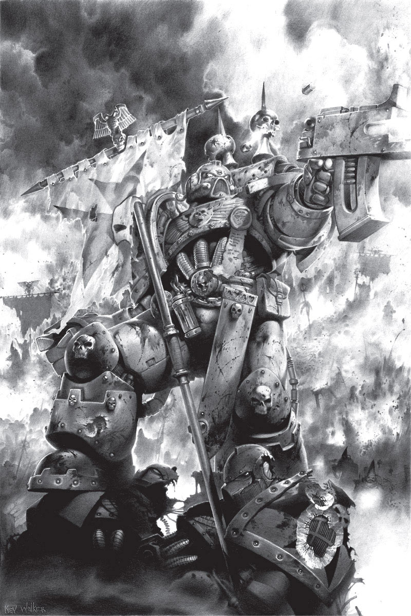 A Black Templars Space Marine.