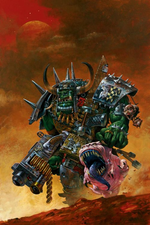 Ork Warboss with Attack Squig. This image was originally created for Inferno! Magazine.