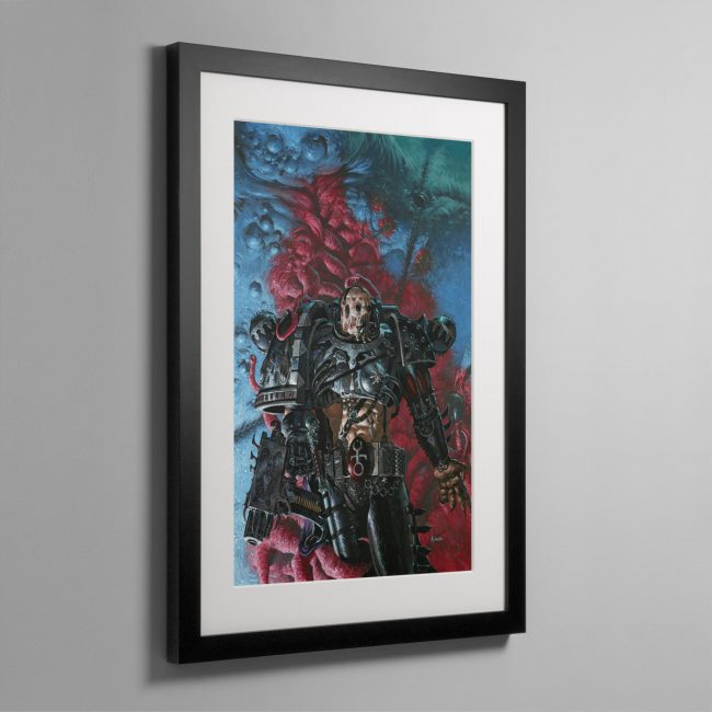A SLAANESHI CHAOS SPACE MARINE – Framed Print