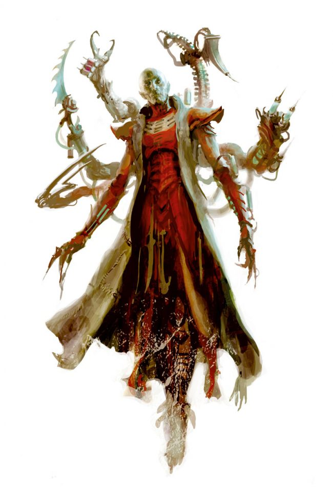 The flesh sculptors of the Dark Eldar create twisted, mutated henchmen to do the bidding of their Archon overlords.