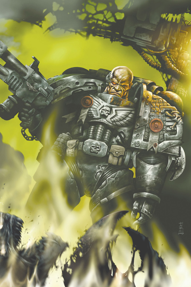 The Deathwatch draws Space Marines from all Chapters to root out Xenos menace where ever it is found. Artist – Karl Richardson Released – 2003