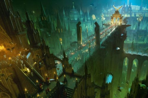 This image gives you a rare glimpse at the Emperor's Palace on Holy Terra.