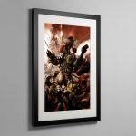 GRUKK FACEBITER – Framed Print