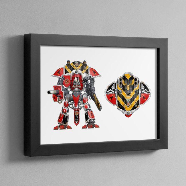 HOUSE RAVEN – Framed Print