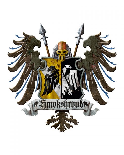 This is the heraldic crest displayed by all Knights who are a member of the venerable House Hawkshroud.