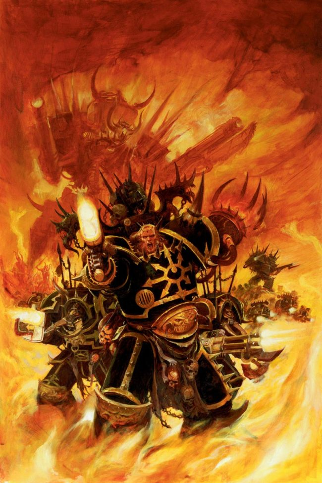 Known for their Black Crusades, they are one of the most prolific Chaos Legions.