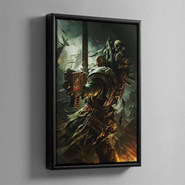 A DARK ANGELS VETERAN – Framed Canvas