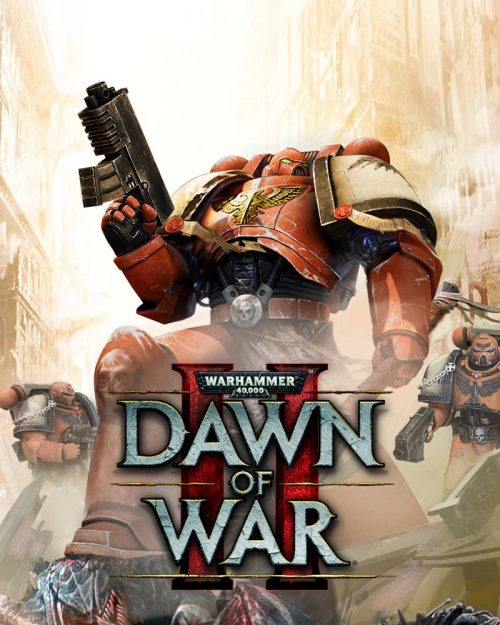 The cover for the popular RTS game Dawn of War 2 shows Space Marines of the Blood Ravens Chapter