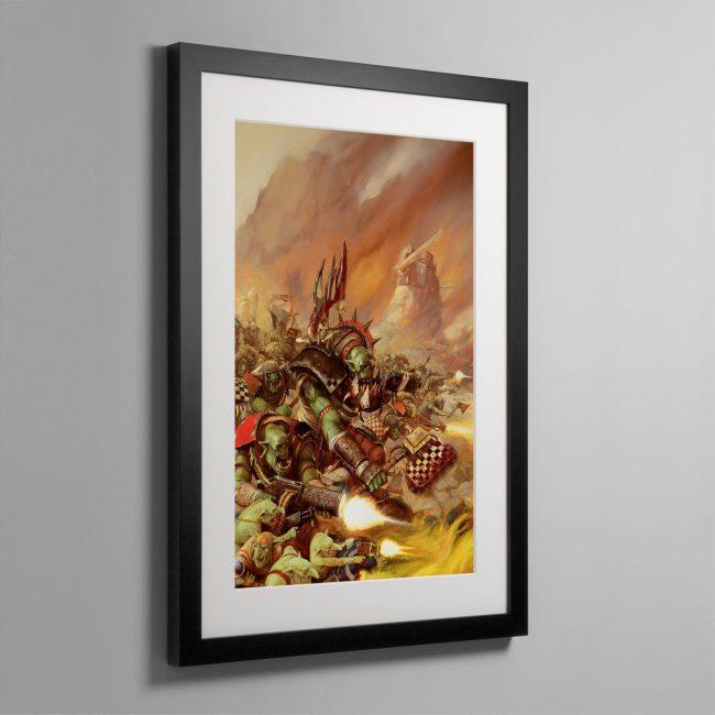 WAAAGH! THE ORKS – Framed Print