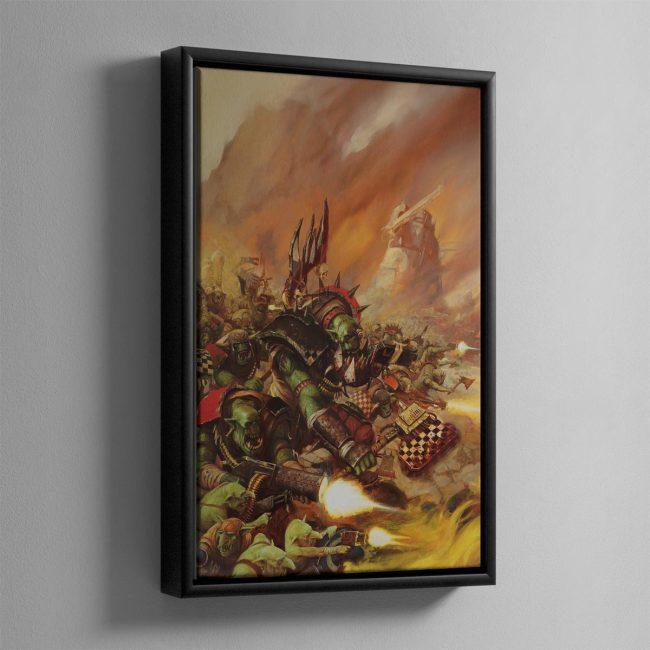 WAAAGH! THE ORKS – Framed Canvas
