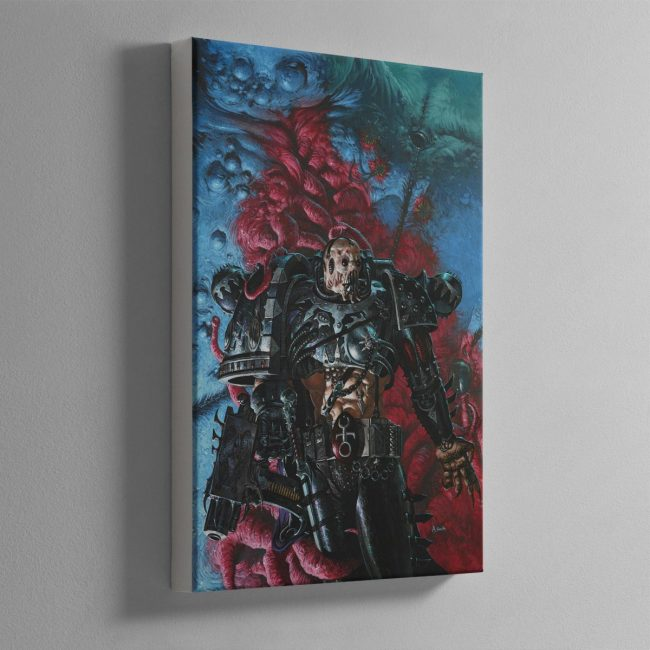 A SLAANESHI CHAOS SPACE MARINE – Canvas Print
