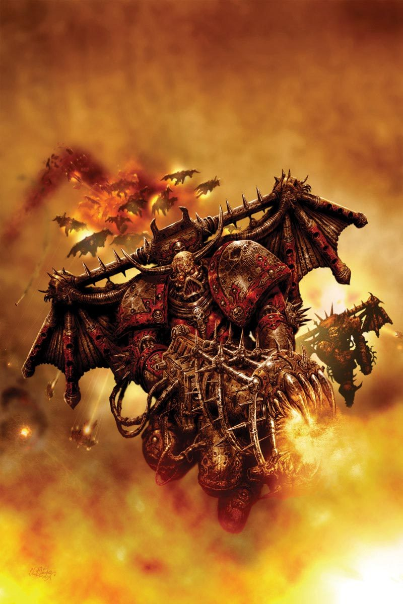 The assault troops of the Chaos Legions enter the fray on mechanical wings.