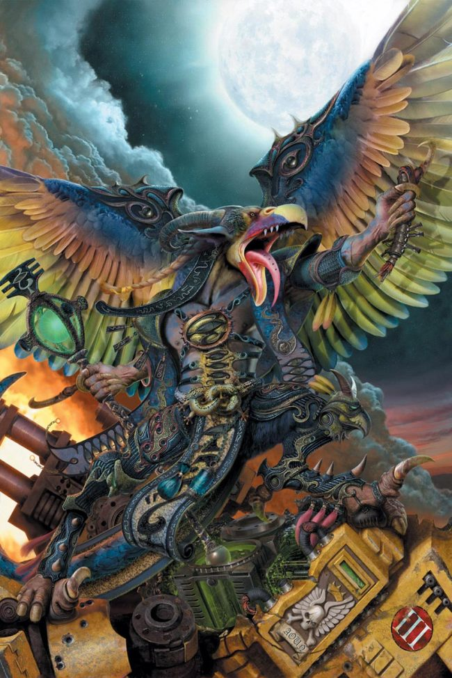 A Greater Daemon of Tzeentch, the god of change.