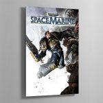SPACE MARINE – Aluminium Print