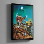 THIRD EDITION TAU CODEX COVER – Framed Canvas