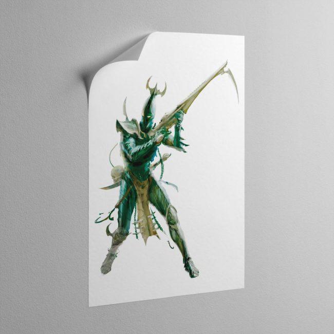 kabalite-warrior-sticky-poster