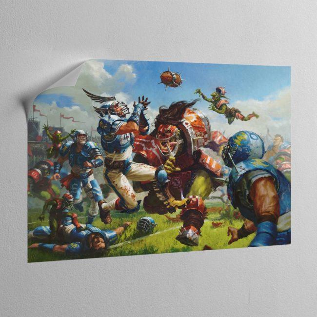 BLOOD BOWL BOX ART – Canvas Poster