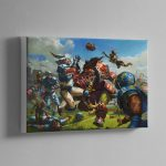BLOOD BOWL BOX ART – Canvas Print