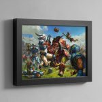 BLOOD BOWL BOX ART – Framed Print