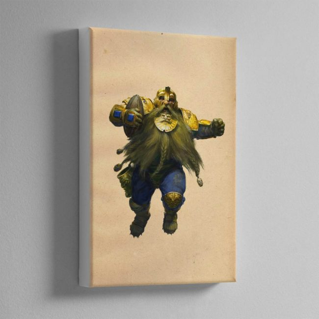 BLOOD BOWL DWARF – Canvas Print