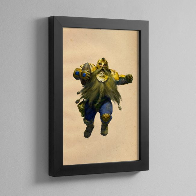 BLOOD BOWL DWARF – Framed Print