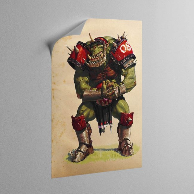 BLOOD BOWL ORC – Canvas Poster