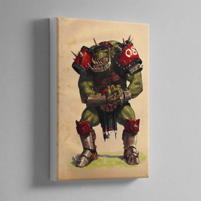 BLOOD BOWL ORC – Canvas Print
