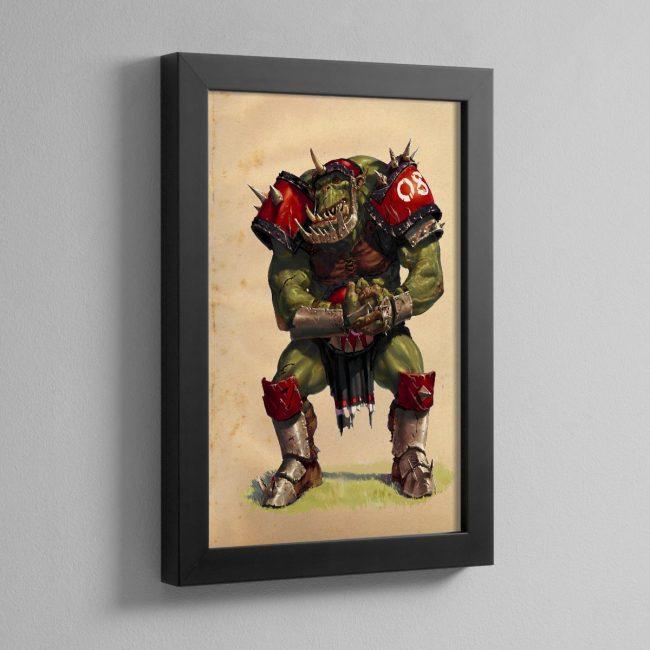 BLOOD BOWL ORC – Framed Print