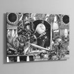 Horus vs the Emperor (1990) – Aluminium Print