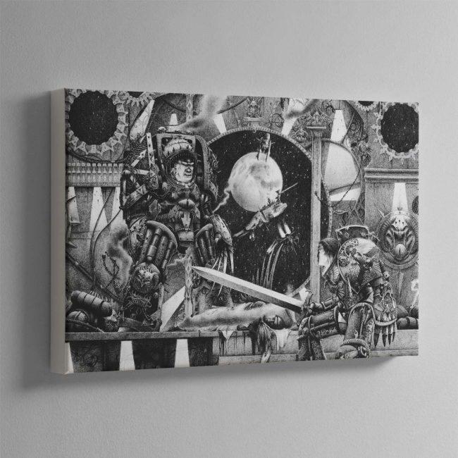 Horus vs the Emperor (1990) – Canvas