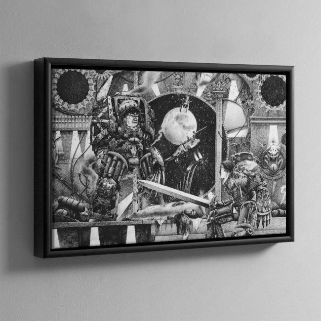 Horus vs the Emperor (1990) – Framed Canvas