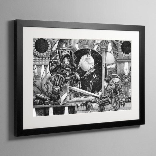 Horus vs the Emperor (1990) – Framed Print