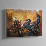 Ulramarines vs Death Guard – Canvas