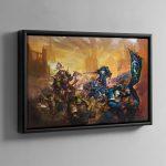 Ulramarines vs Death Guard – Framed Canvas