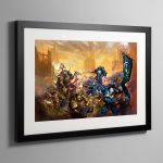 Ulramarines vs Death Guard – Framed Print