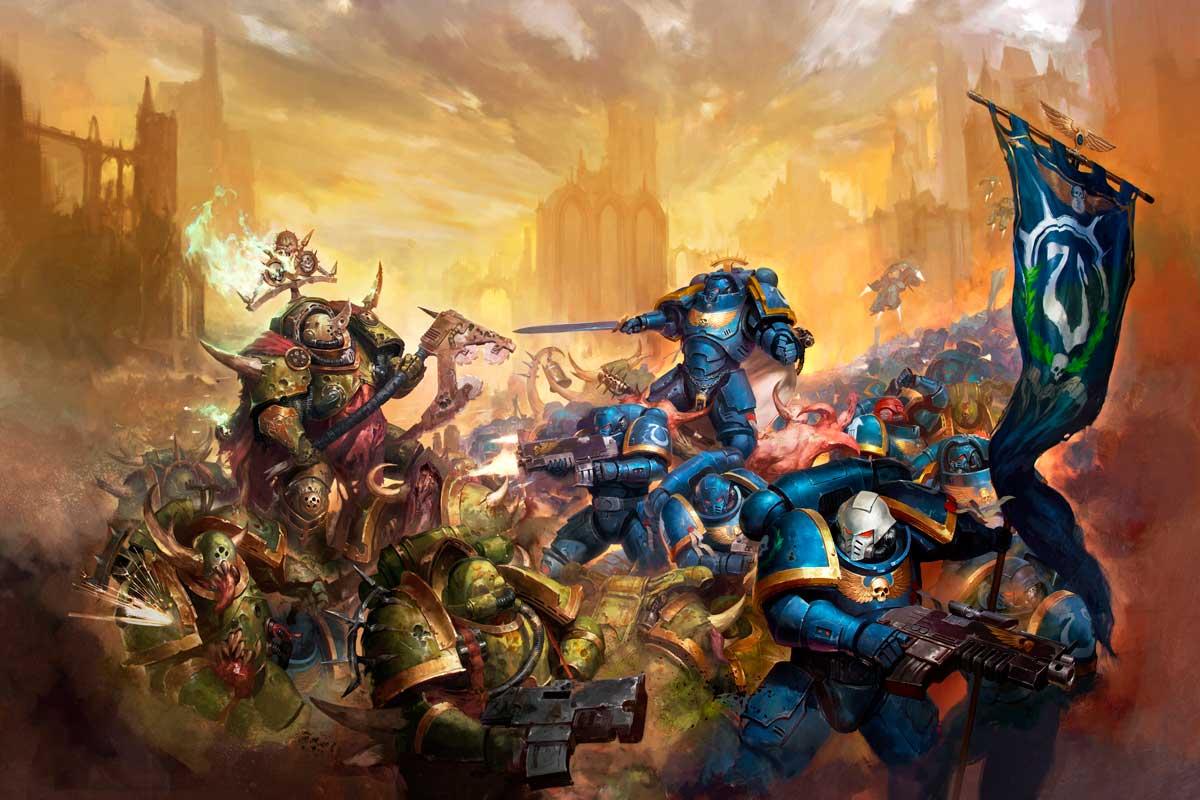 Ultramarines vs Death Guard