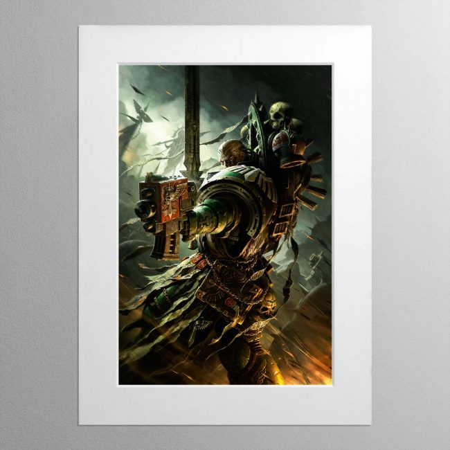 A Dark Angels Veteran – Mounted Print