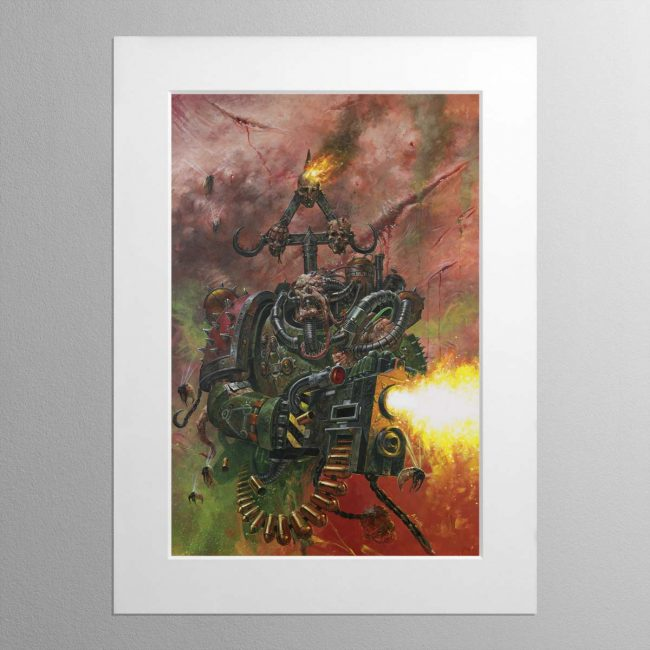 A Nurgle Worshipping Chaos Plague Ma… – Mounted Print