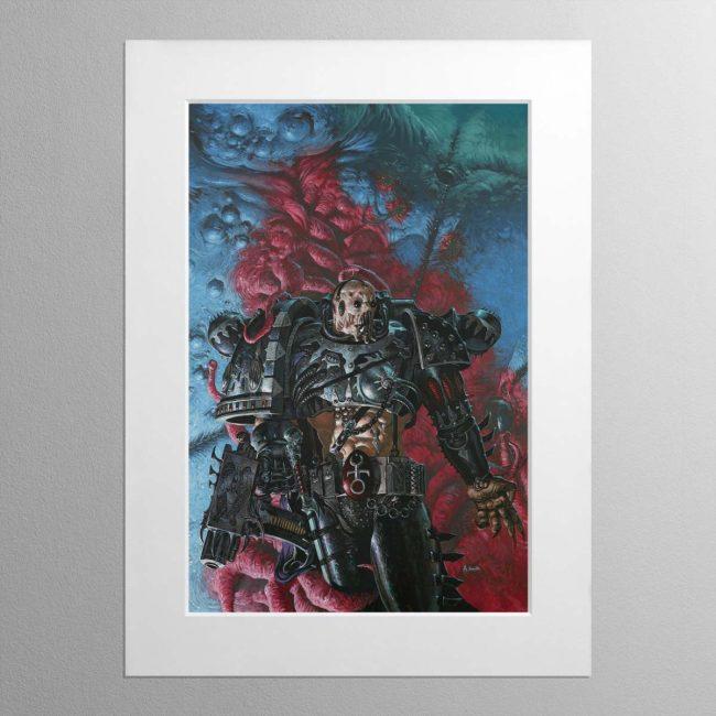 A Slaaneshi Chaos Space Marine – Mounted Print