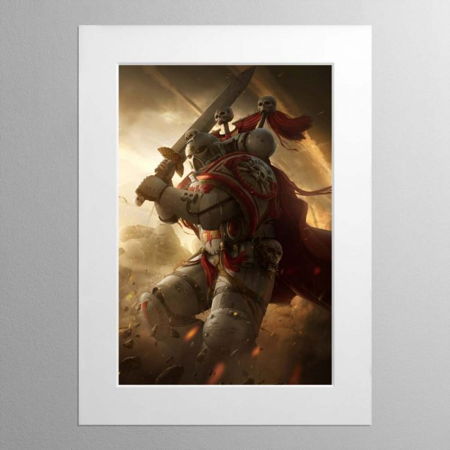 A White Scars Captain – Mounted Print