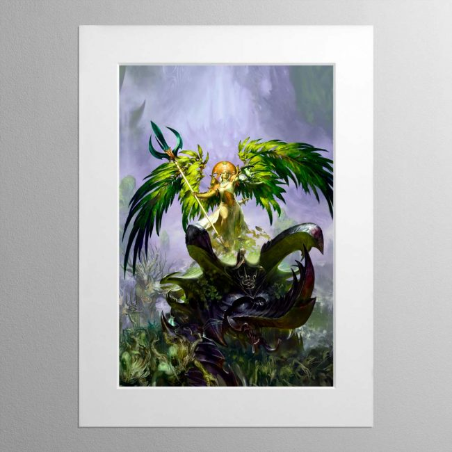 Alarielle the Everqueen – Mounted Print