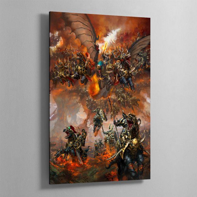 Archaon Everchosen and the Varanguard – Aluminium Print
