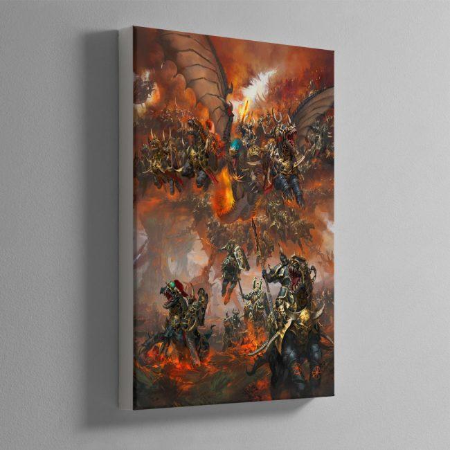 Archaon-Everchosen-and-the-Varanguard—Canvas