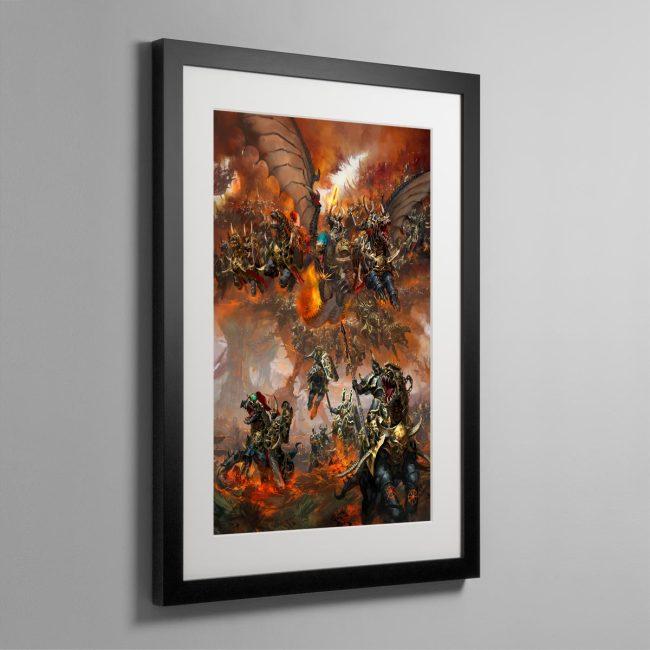 Archaon Everchosen and the Varanguard – Frame Print